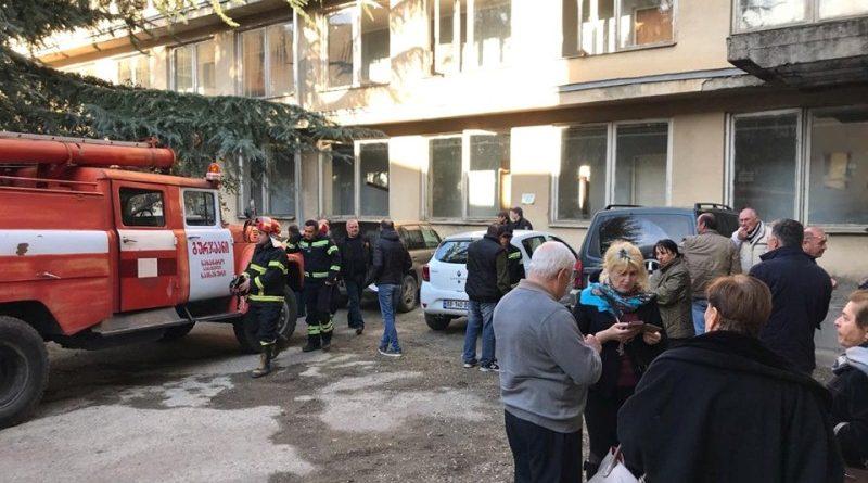 გურჯაანის მერიის შენობის ეზოში ელექტრომომარაგების კარადა აფეთქდა